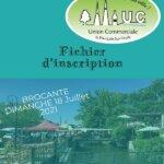 Réservation Brocante DIMANCHE 18 JUILLET 2021